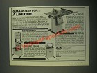 1987 Foley-Belsaw Ad - 480 Bandsaw, 435 Scroll Saw and 490 Table Saw