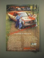 1987 GMC Sierra Club Coupe Truck Ad - Welcome to the Club