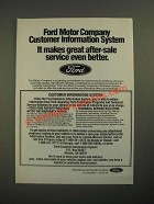 1987 Ford Motor Company Ad - Customer Information System