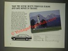 1987 Mercedes-Benz Cars Ad - Take the Scenic Route Through Europe
