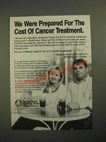 1987 American Family Life Assurance Ad - Cost of Cancer Treatment