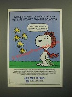 1987 Metropolitan Life Insurance Ad - Snoopy and Woodstock by Charles Schulz