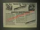 1987 Embry-Riddle Aeronautical University Ad - Hands-On Career in Aviation
