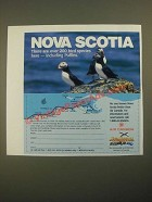 1987 Nova Scotia Canada Ad - Over 200 Bird Species Including Puffins