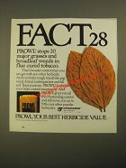 1987 Cyanamid Prowl Herbicide Ad - Fact 28 Stops 20 Major Grasses