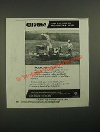 1987 Olathe Disc Chipper Model 986 Ad - For Professional Users