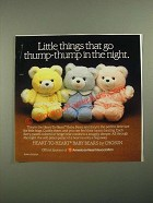 1987 Chosun Heart-to-Heart Baby Bears Ad - Go Thump-Thump in the Night