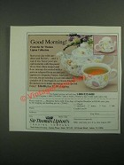 1987 Sir Thomas Lipton Tea Breakfast Set Ad - Good Morning!