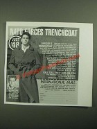 1987 International Male Officer's Trenchcoat Ad - Nato Forces