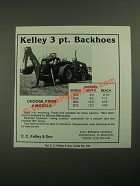 1987 Kelley Backhoe Ad