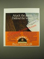 1987 Formby's Wood Formula Paint Remover Ad - Attack the Paint Defend the Wood
