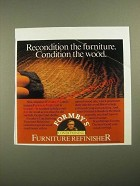 1987 Formby's Conditioning Furniture Remover Ad - Recondition the Furniture