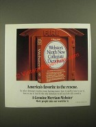 1987 Merriam-Webster Webster's Ninth new Collegiate Dictionary Ad - Rescue