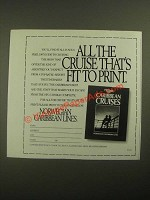 1987 Norwegian Caribbean Lines Ad - All the Cruise That's Fit to Print