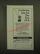 1987 Mantis Tiller Ad - Gardening Just for the Fun Of It