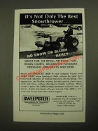 1987 Sweepster L4800 Sweeper Ad - It's Not Only the Best Snowthrower