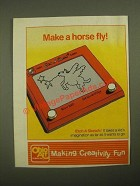 1987 Ohio Art Etch a Sketch Ad - Make a Horse Fly!
