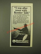 1987 Yakima Bait Co. Worden's Lures Rooster Tail Ad