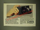 1987 Canon Snappy S Camera Ad - A Lot of Canon For a Little Money