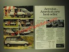 1987 Ford Aerostar Ad - America's New Best-Seller