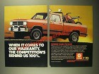 1987 Dodge Ram Pickup Ad - When It Comes to Our Warranty