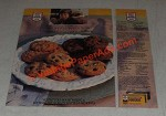 1987 Nestle Toll House Morsels Ad - Chocolate Chip Cookies, Oatmeal Scotchies