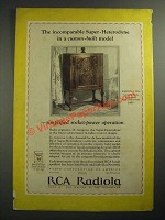 1928 RCA Radiola 30A Ad - The Incomparable Super-Heterodyne