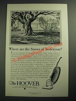 1929 Hoover Vacuum Cleaner Ad - Where are the Snows of Yesteryear?