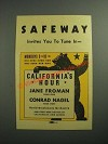 1936 Safeway Grocery Store Ad - Invites You to Tune In