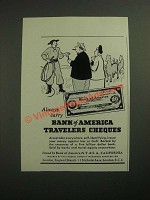 1947 Bank of America Travelers Cheques Ad - Always Carry