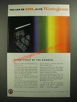 1950 Westinghouse Fluorescent Light Bulb Ad - You Can Be Sure
