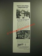 1954 Zenith Trans-Oceanic Radio Ad - Proved on a Camel in Pakistan