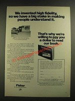 1971 Fisher Hi-Fi Systems Ad - We Invented High Fidelity