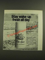 1971 Old Spice Stick Deodorant Ad - Stay Wake-Up Fresh All Day