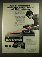 1972 Fisher CO-12 Component Stereo System Ad - The Perfect Record