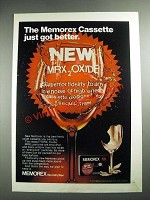 1973 Memorex MRX Cassette Ad - Just Got Better