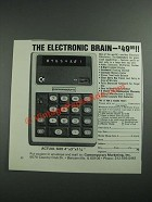 1973 Contemporary Marketing Commodore Minuteman 3 Calculator Ad