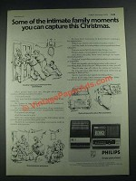 1975 Philips Cassette Recorders Ad - N2218 and N2222