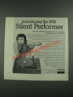 1975 BSR Model 20 BPX Turntable Ad - Silent Performer
