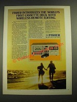 1978 Fisher CR4025 Tape Deck Ad - Wireless Remote Editing