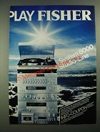 1979 Fisher System 8000 Studio Line Stereo Ad - in German