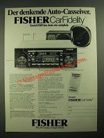 1979 Fisher Car Stereo Ad - in German