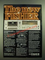 1979 Fisher CR4029 Cassette Deck Ad - The New Fisher