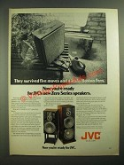 1979 JVC Zero Series Speakers Ad - Survived Five Moves