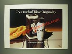 1979 Tabac After Shave Lotion Ad - Try a Touch of Tabac Originality