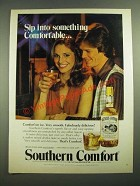 1980 Southern Comfort Ad - Sip into Something Comfortable