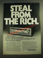1980 pioneer SX-3700 Receiver Ad - Steal from the Rich