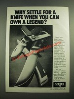 1981 Gerber Knives Ad - You Can Own a Legend