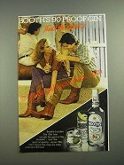 1981 Booth's High & Dry Gin Ad - That's the Spirit