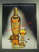1982 Metaxa Seven Star Liqueur Ad - A Step Above Cognac